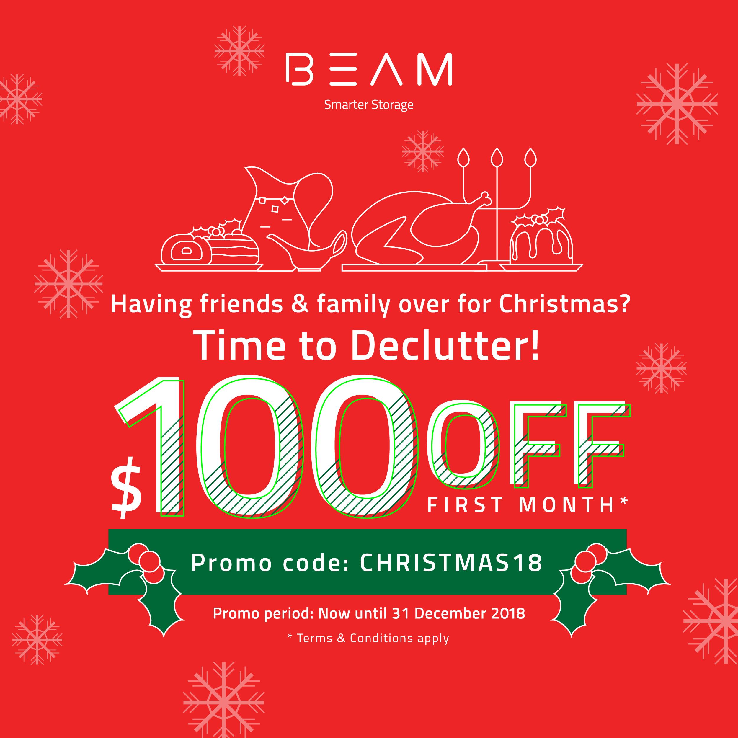 BEAM Storage Christmas 2018 Promotion