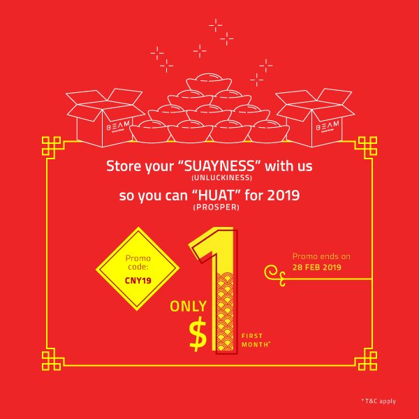 "Store your ""SUAYNESS"" with us so you can ""HUAT"" for 2019!"